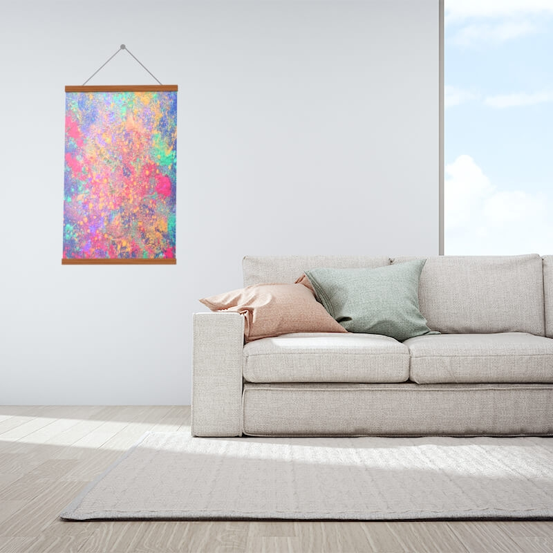 Hanging wood canvas
